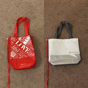 Lululemon and Athleta bags